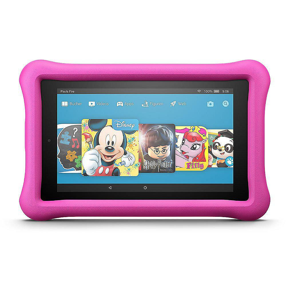 Amazon Fire 7 Kids Edition Tablet WiFi 16 GB Kid-Proof Case pink