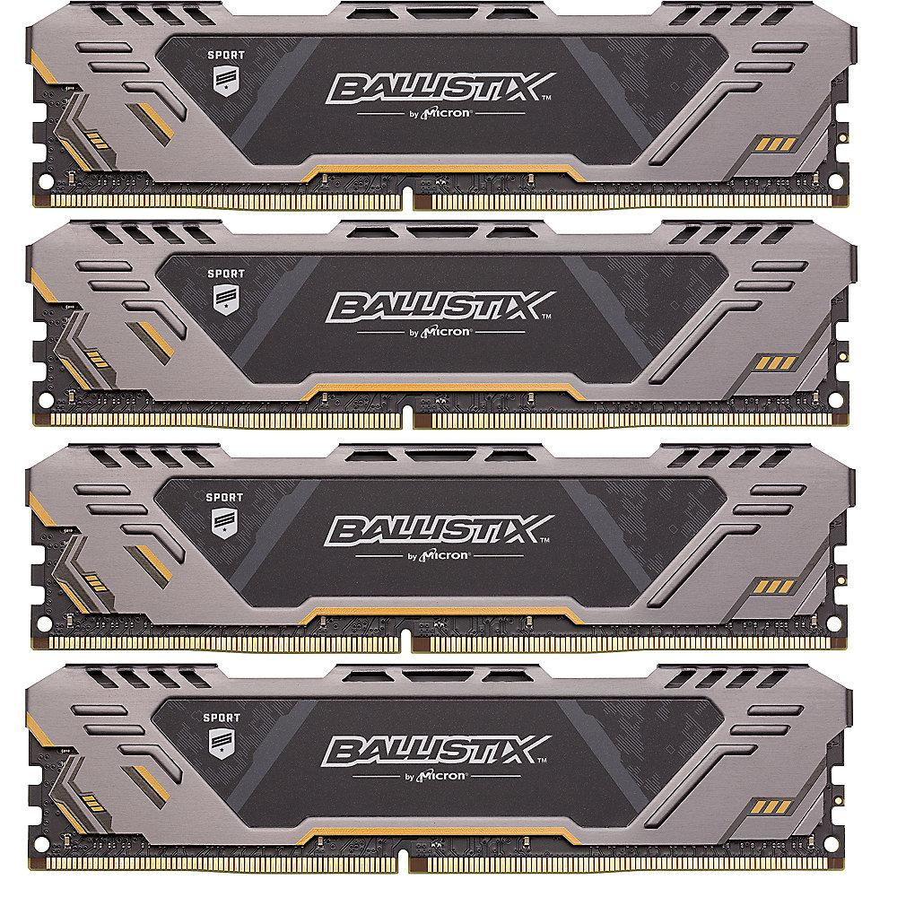 64GB (4x16GB) Ballistix Sport AT DDR4-3000 CL17 (17-19-19) RAM Speicher Kit