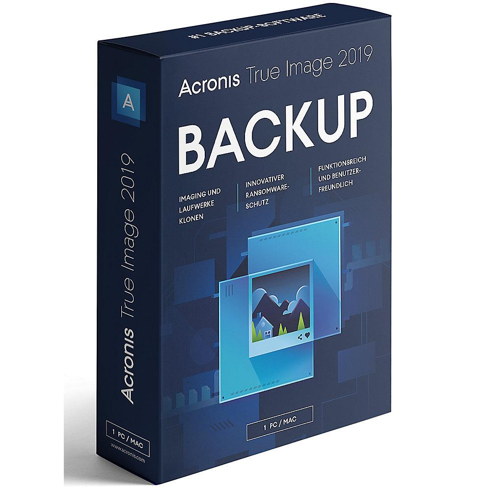 Acronis True Image 2019 1 PC MiniBox