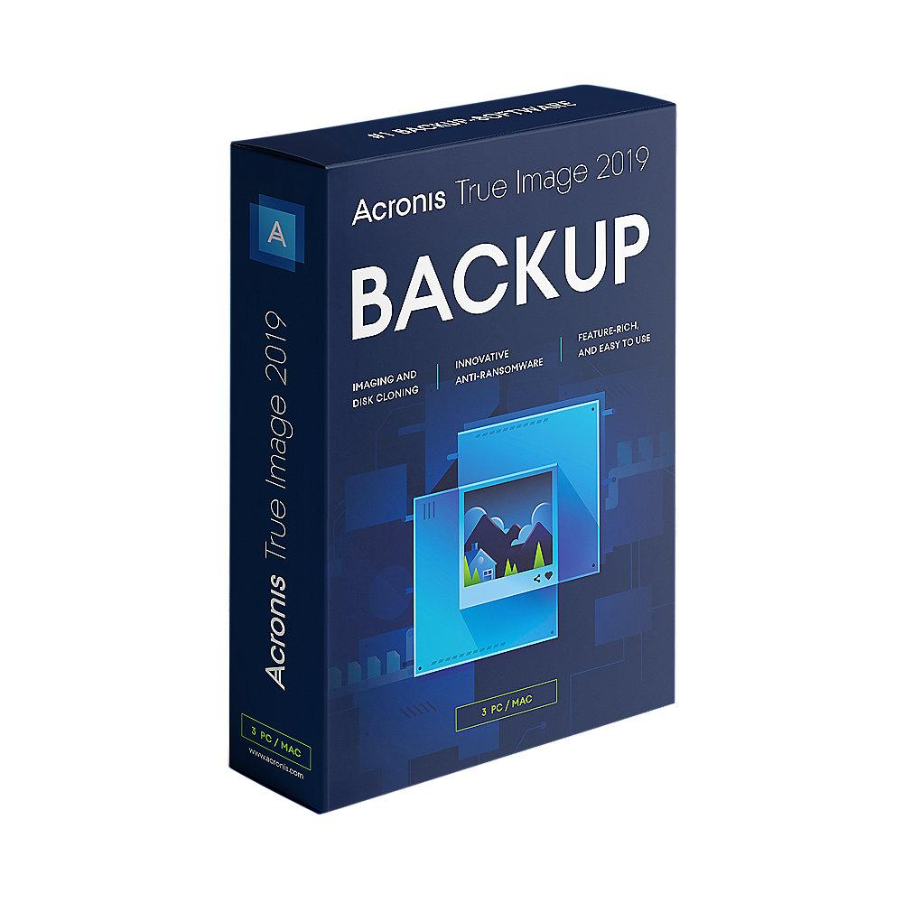 Acronis True Image 2019 3 PC MiniBox UK