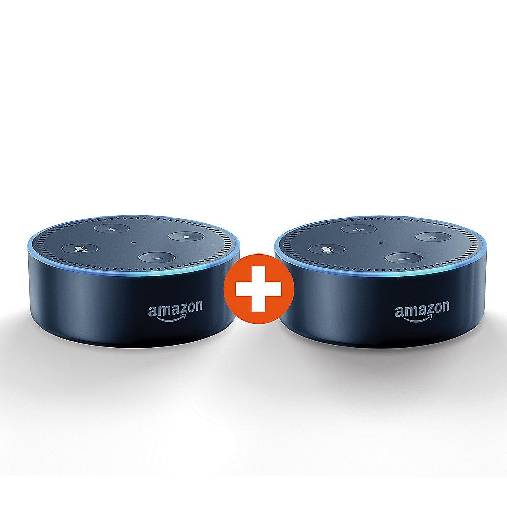 Amazon Echo Dot 2nd Gen. 2er-Set schwarz