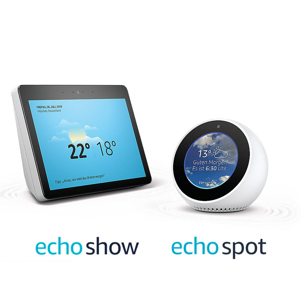 Amazon Echo Show 2.Gen   Echo Spot - White Edition