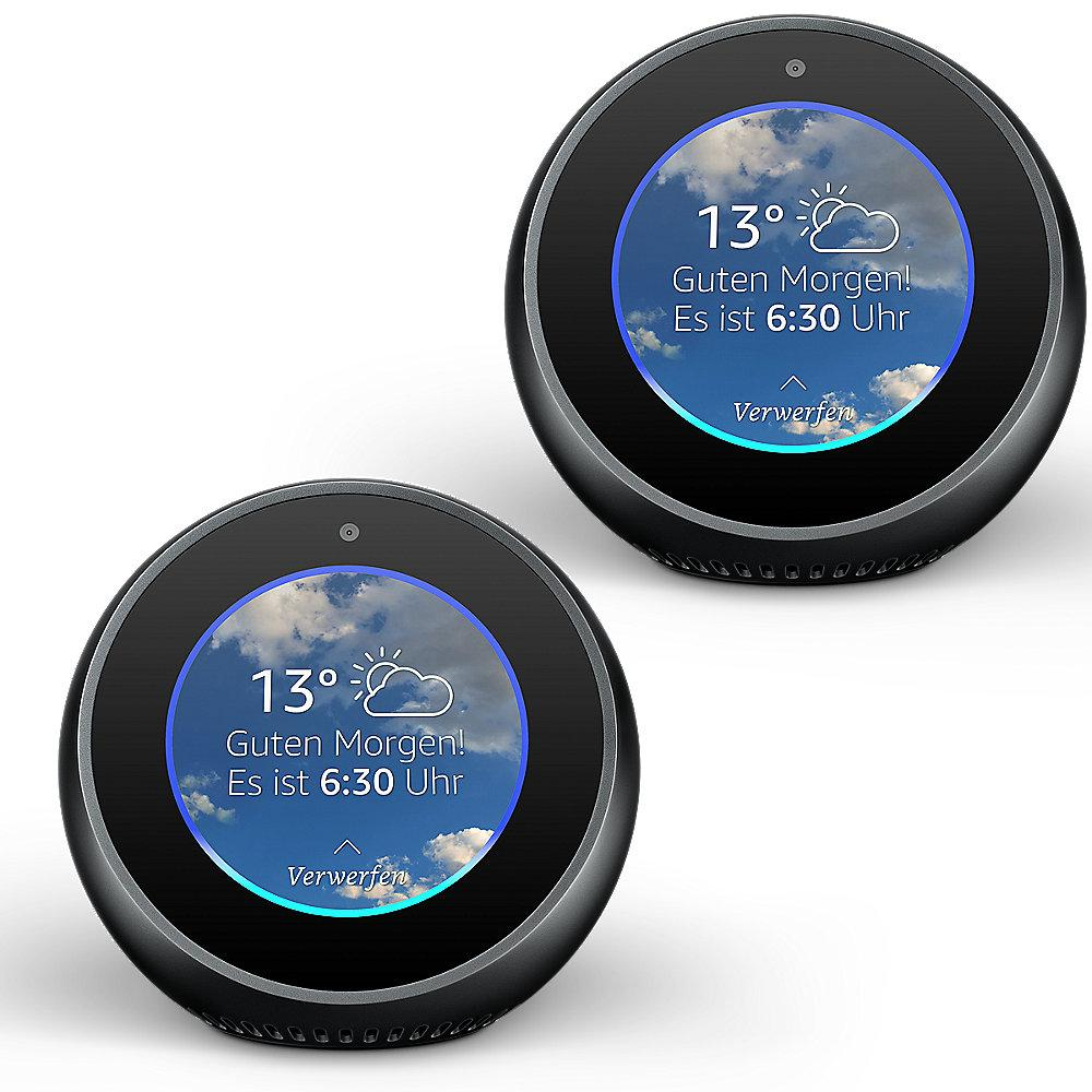 Amazon Echo Spot 2er Set - schwarz