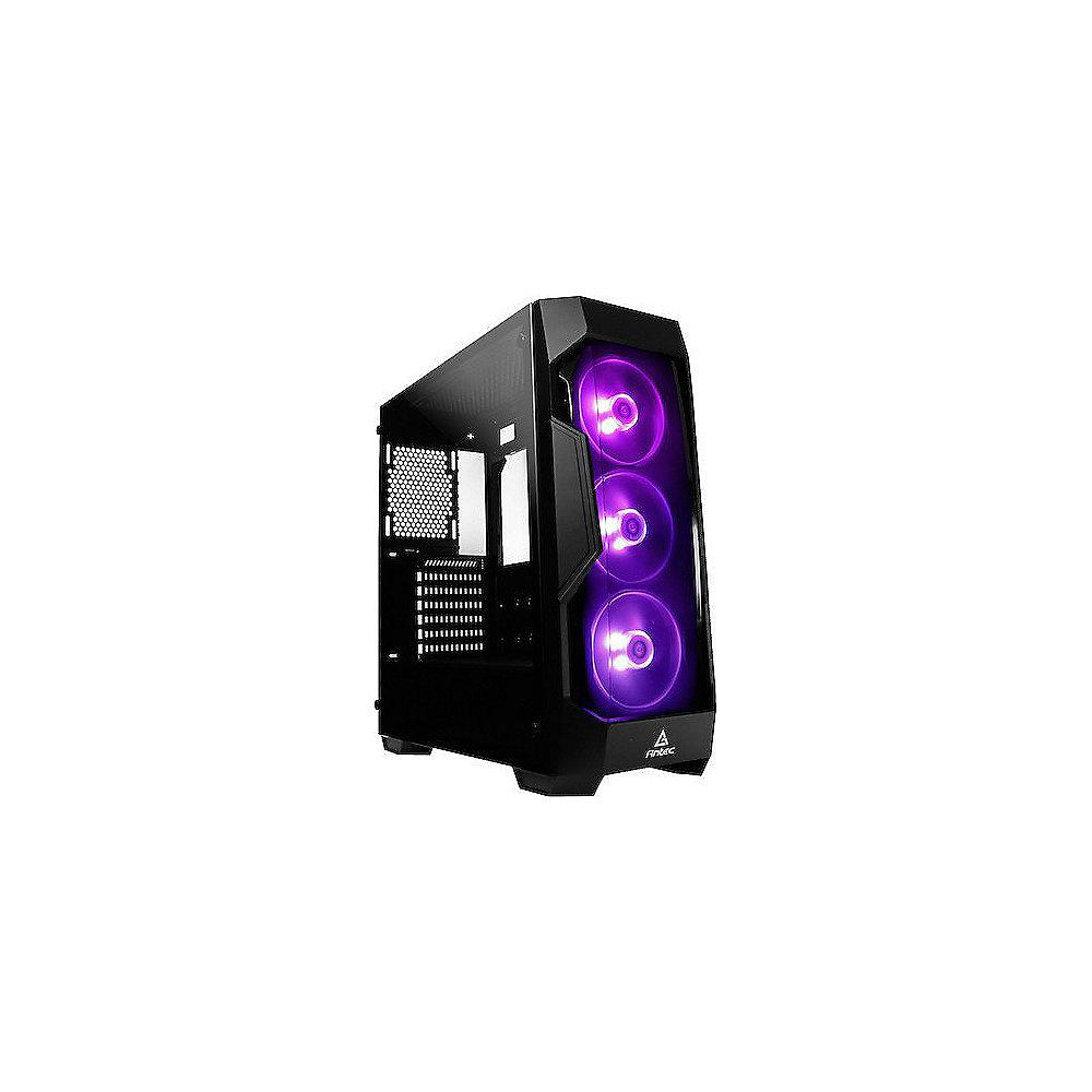 Antec Dark Fleet DF500, Midi Tower Gaming Gehäuse, RGB Lüfter, Glasseitenfenster