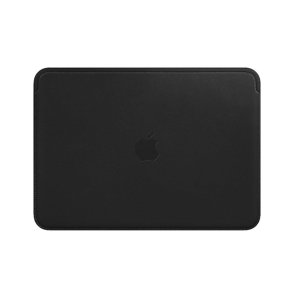 "Apple 12"" MacBook Lederhülle - schwarz"