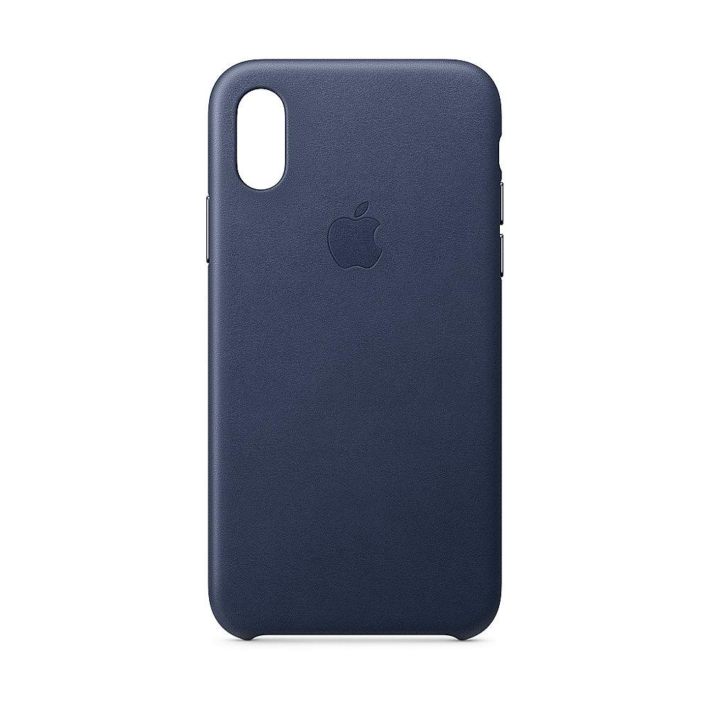Apple Original iPhone XS Leder Case-Mitternachtsblau