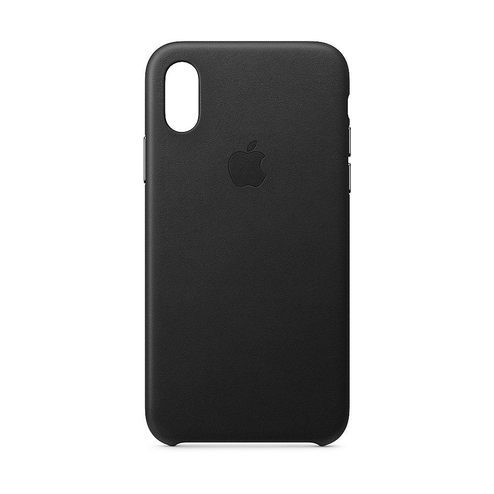 Apple Original iPhone XS Leder Case-Schwarz