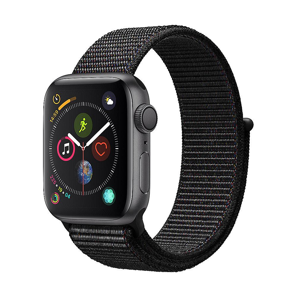 Apple Watch Series 4 GPS 40mm Aluminiumgehäuse Space Grau mit Sport Loop Schwarz