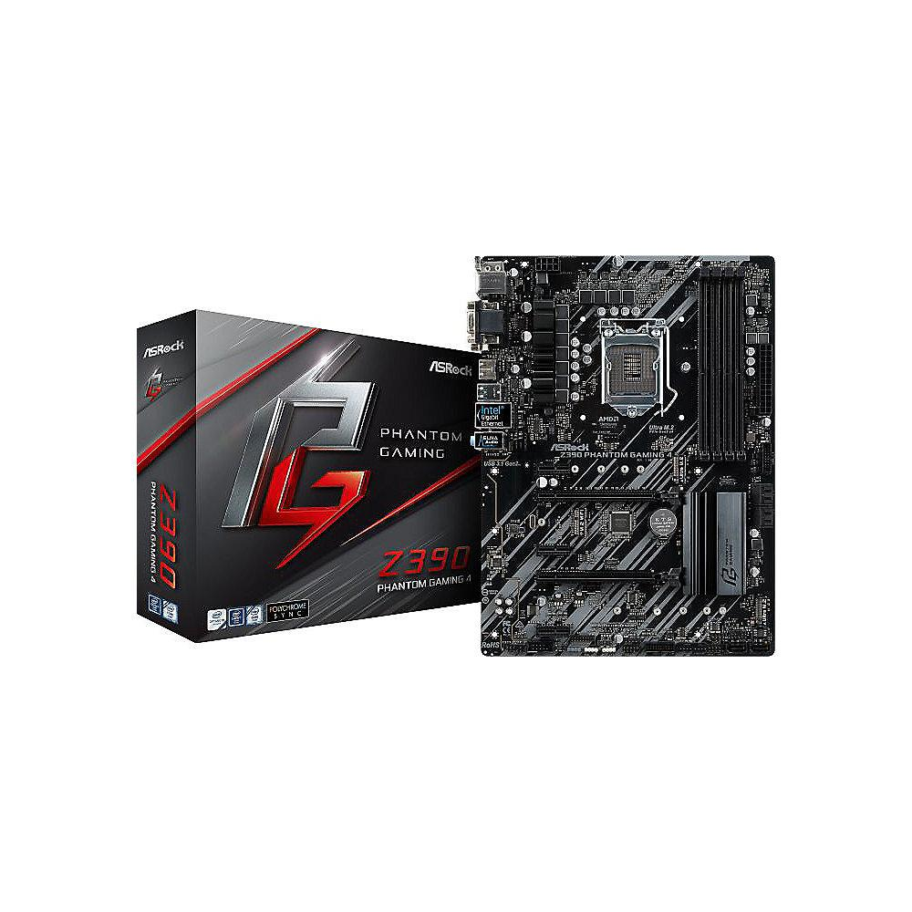ASRock Z390 Phantom Gaming 4 ATX Mainboard Sockel 1151 2xM.2/1xGL/HDMI/USB3.1
