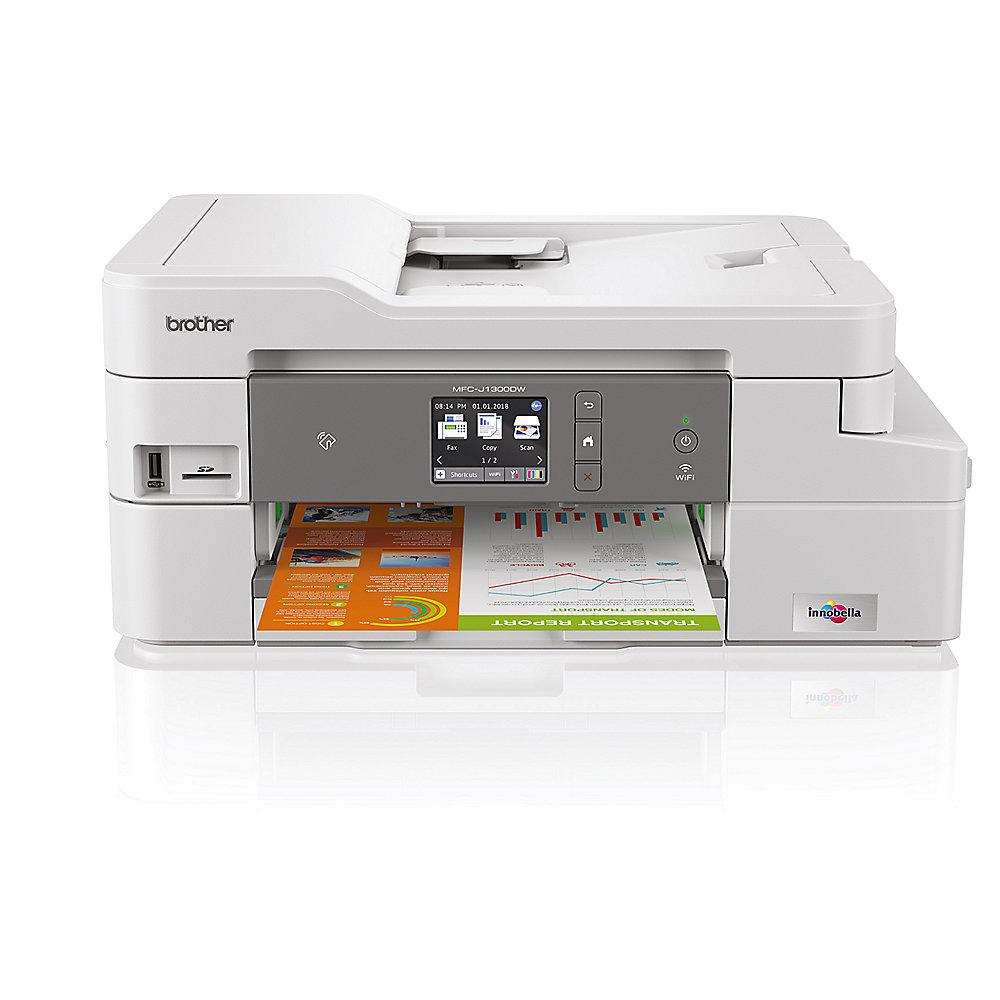 Brother MFC-J1300DW Tintenstrahl-Multifunktionsdrucker Scanner Kopierer Fax WLAN