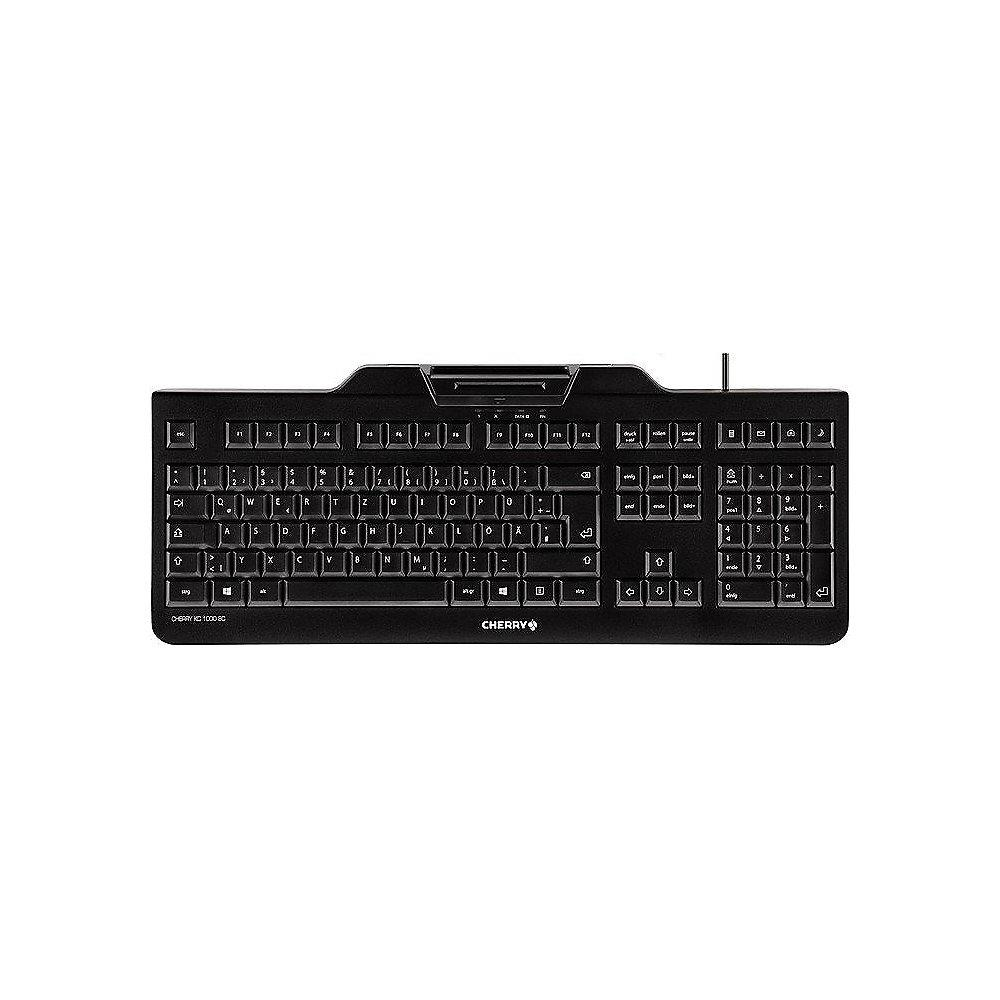 Cherry KC 1000 SC Keyboard mit Smart Card Reader USB schwarz