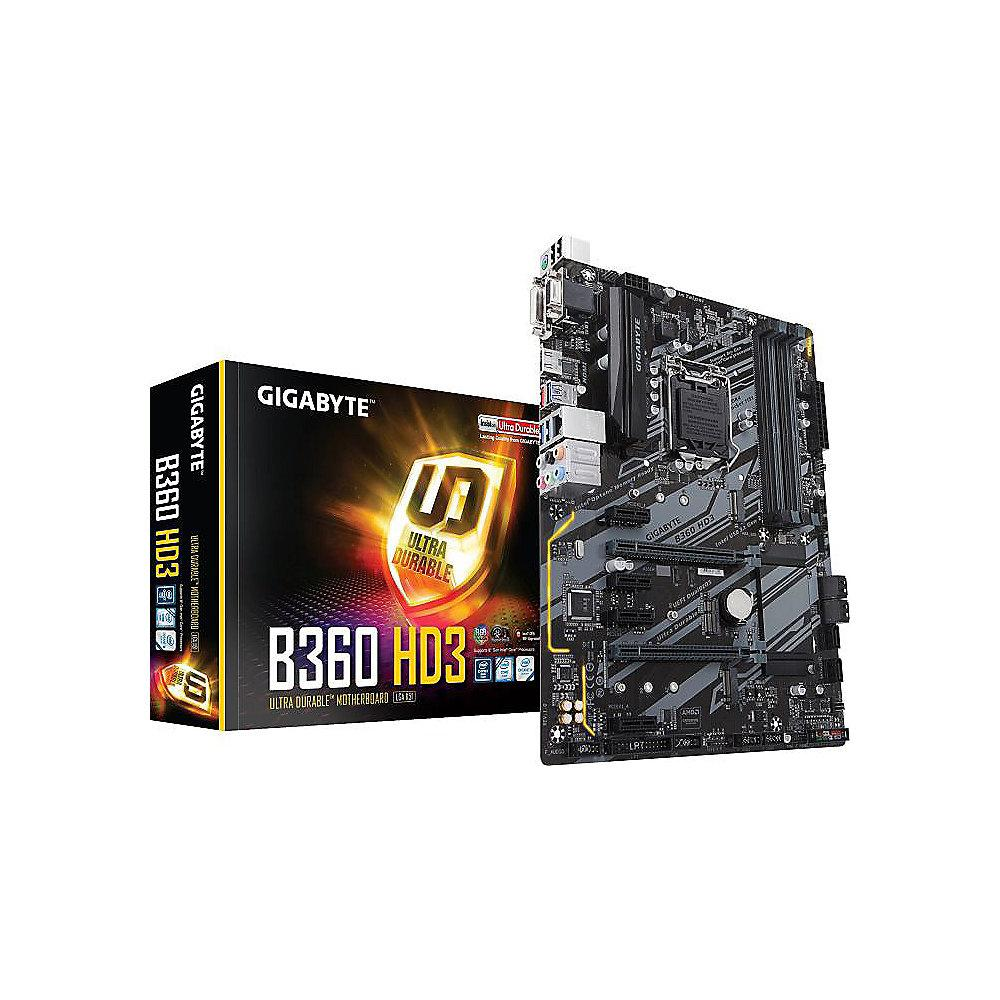 Gigabyte B360 HD3 ATX Mainboard 1151v2 (Coffee Lake)