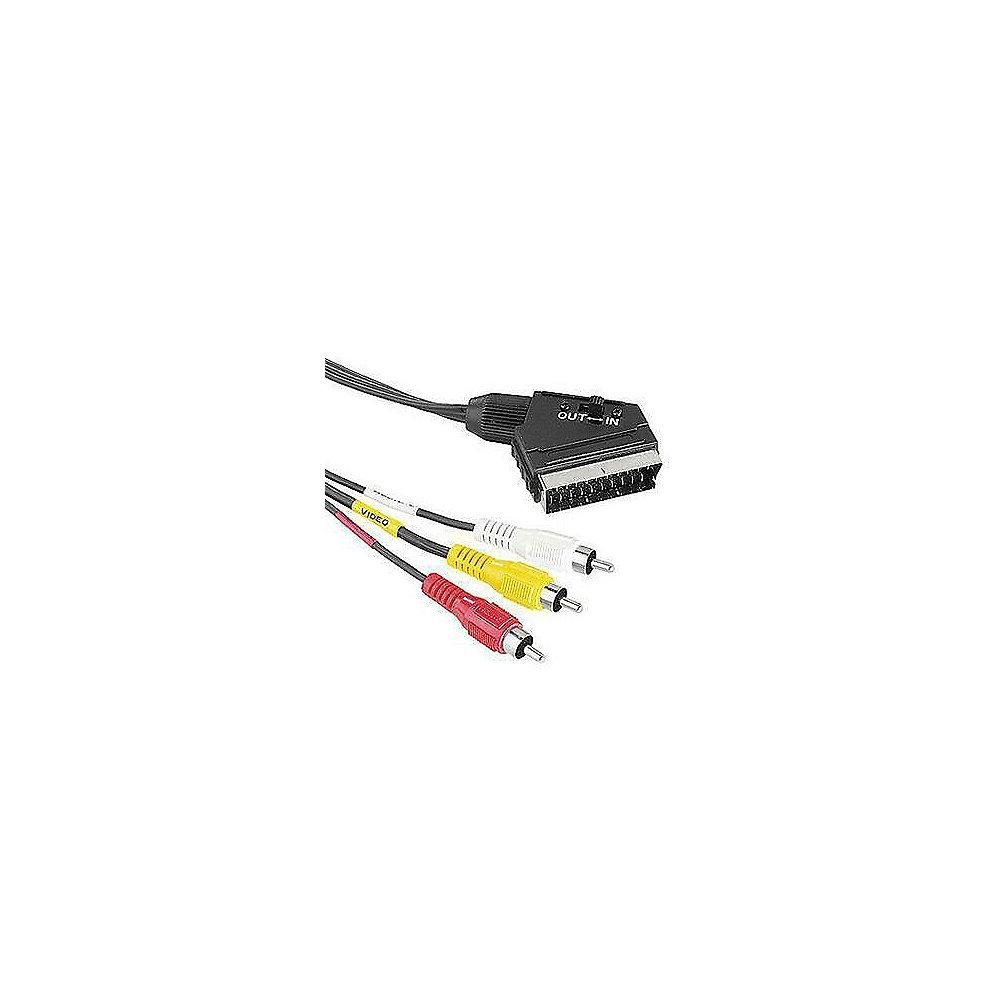 Hama Scart Kabel 1,5m Scart zu 3x Cinch Video Stereo St./3xSt. schwarz