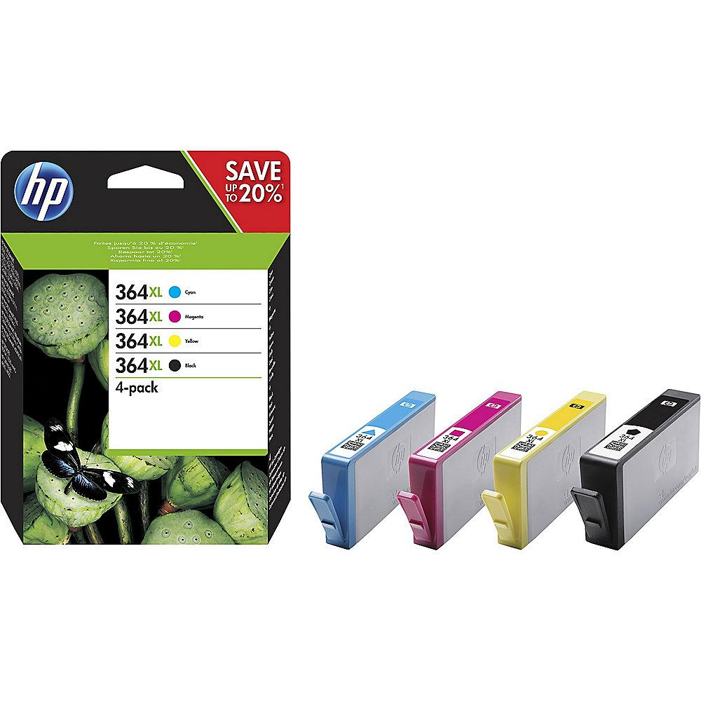 HP 364XL Original Value Pack Tintenmultipack schwarz gelb cyan magenta N9J74AE