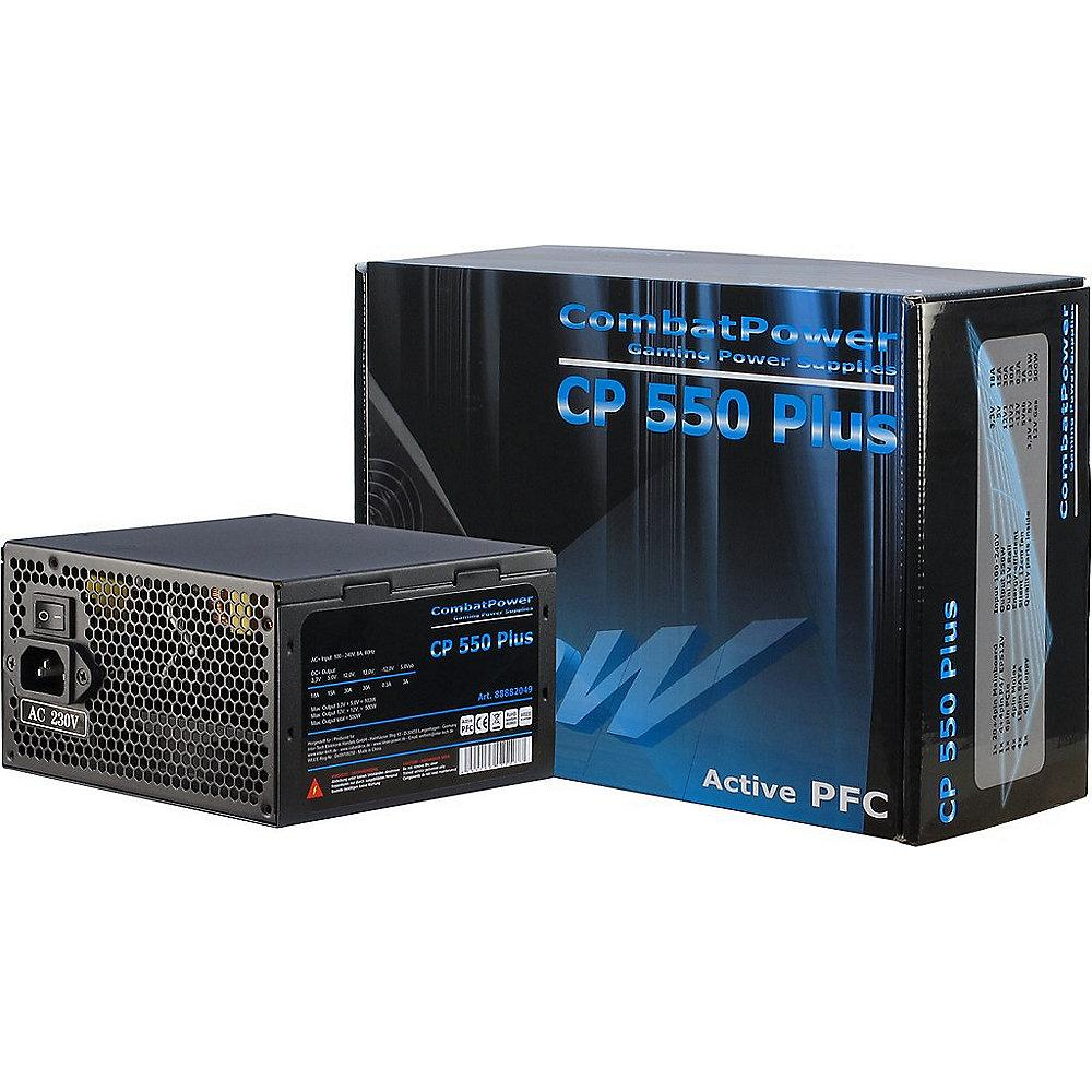 Inter-Tech Combat Power CP 550W Plus ATX 2.2 aktiver PFC (120mm Lüfter)