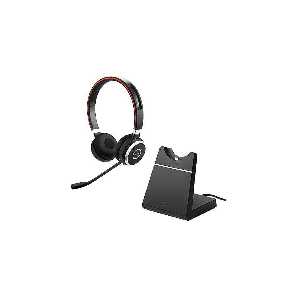 Jabra Evolve 65 MS Stereo Headset inkl. Ladestation