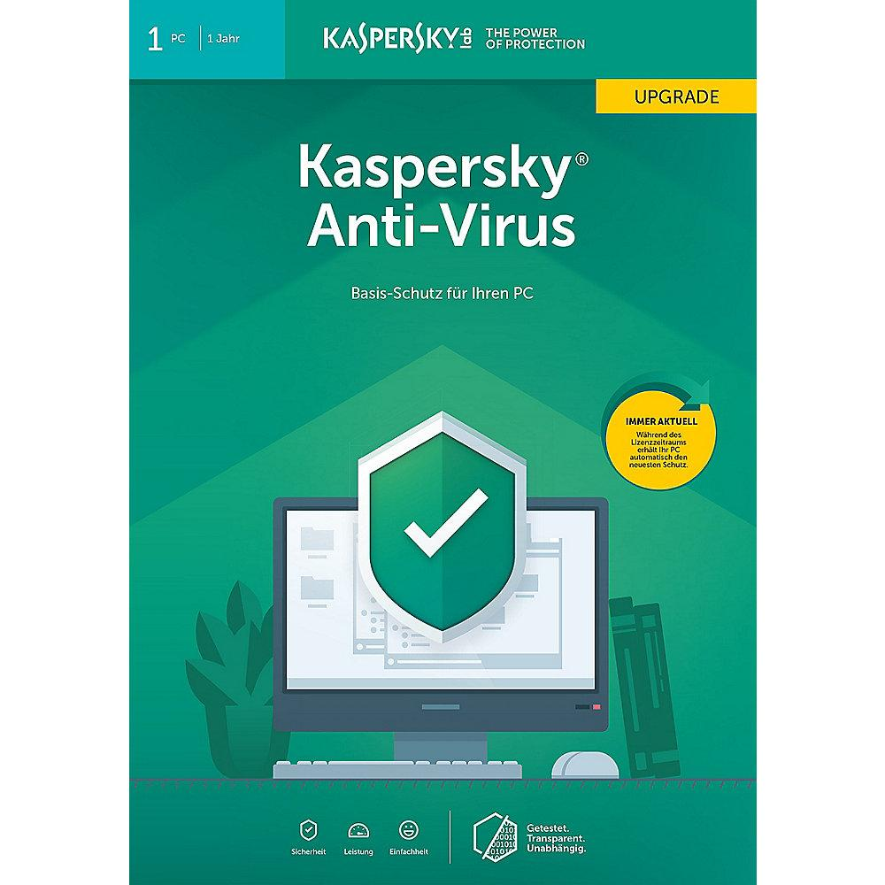 Kaspersky Anti-Virus 2019 Upgrade 1PC 1Jahr FFP / Produkt Key