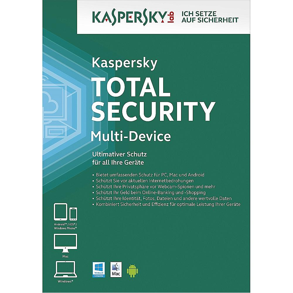 Kaspersky Total Security 5 Geräte 1 Jahr Base Lizenz