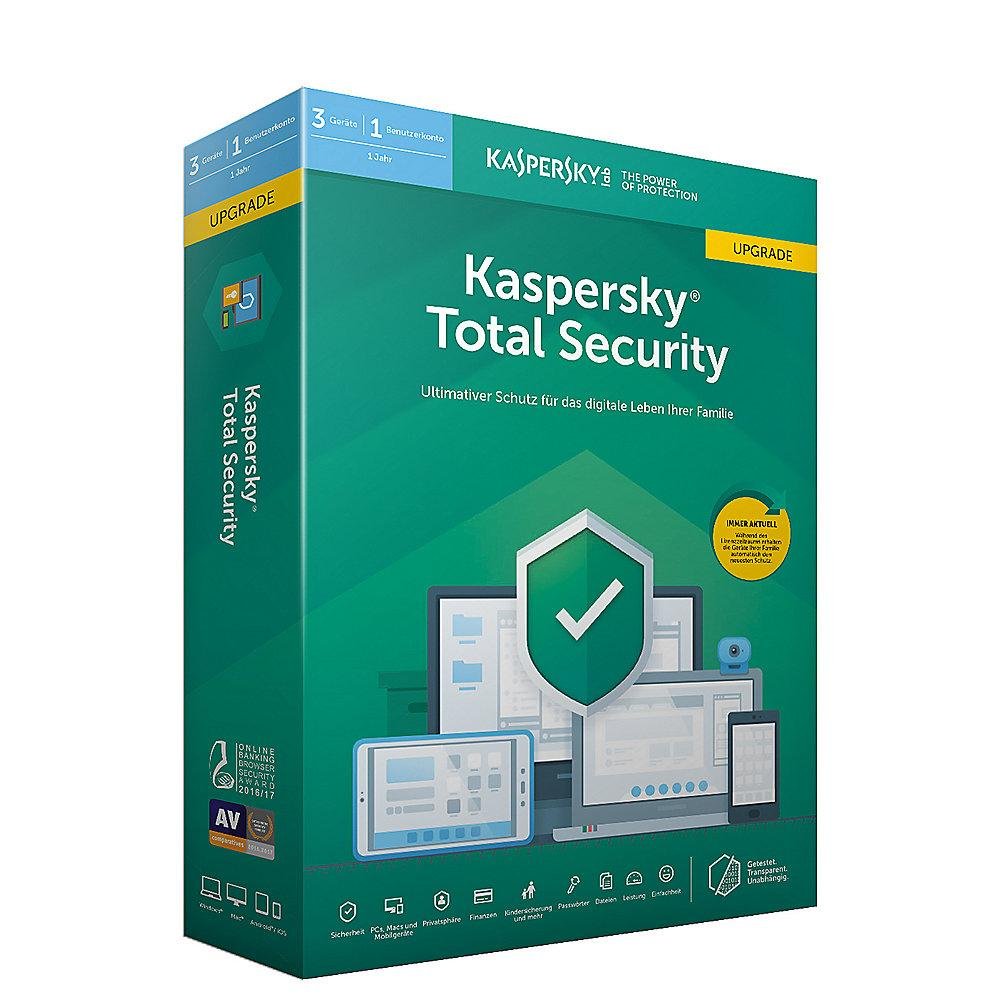 Kaspersky Total Security Upgrade 3Geräte 1Jahr Minibox