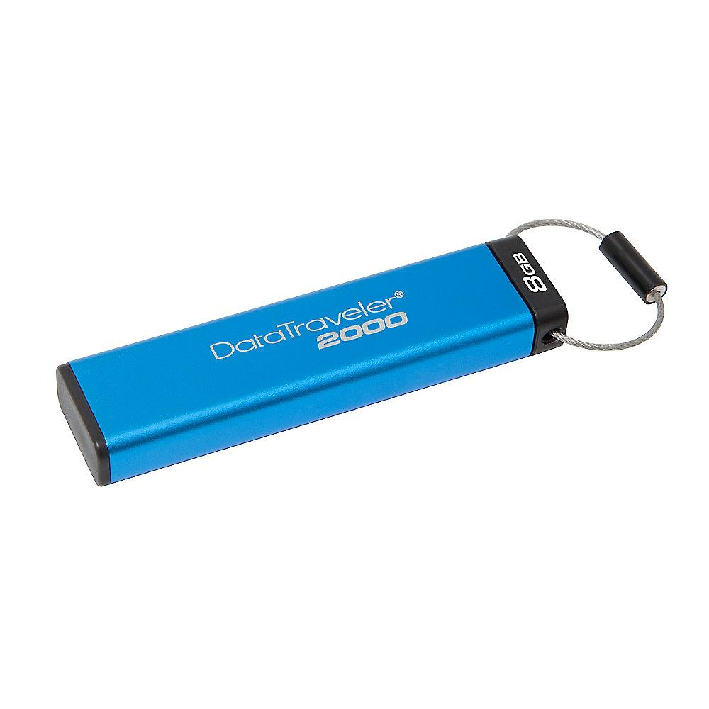 Kingston 8GB DataTraveler 2000 Data Secure Stick USB3.0 IP57