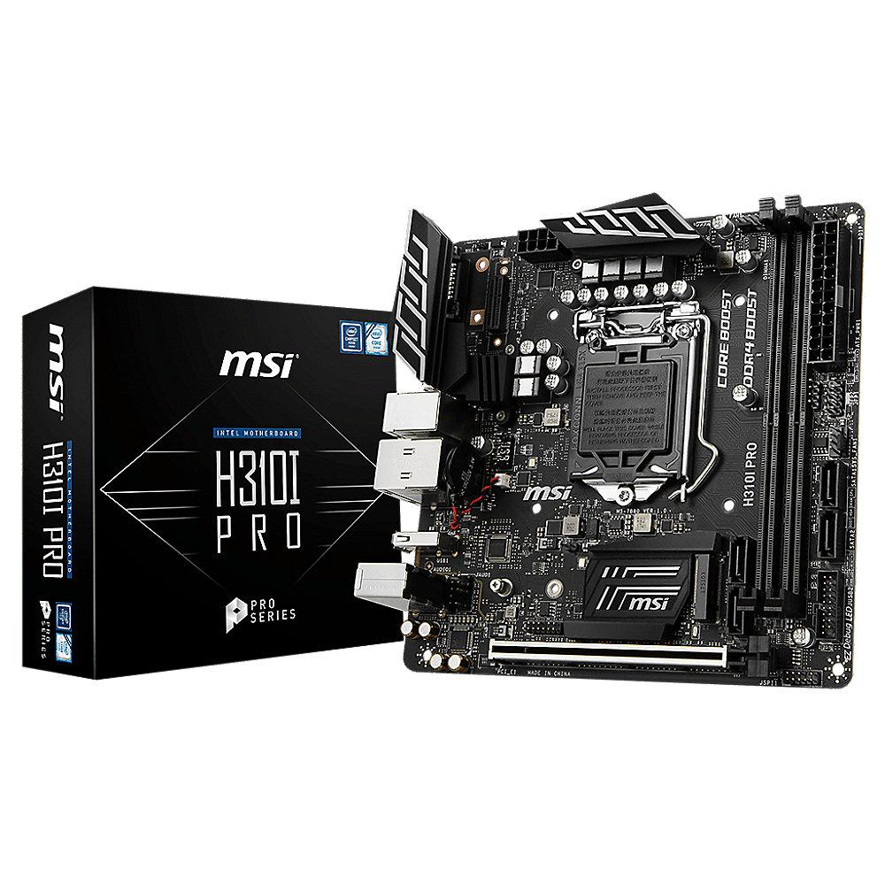 MSI H310I Pro Mini-ITX Mainboard Sockel 1151v2 (Coffee Lake)