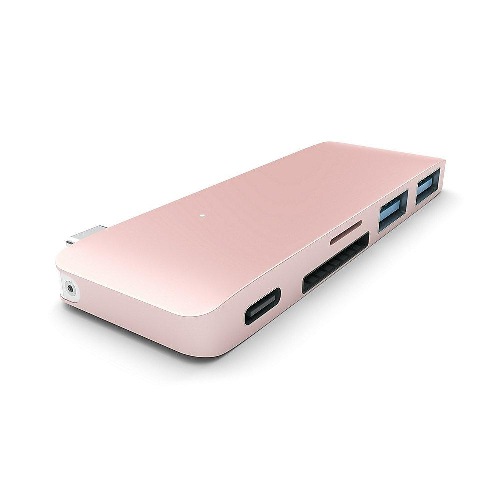 Satechi USB-C Passthrough Hub Rose Gold für Macbook 12""