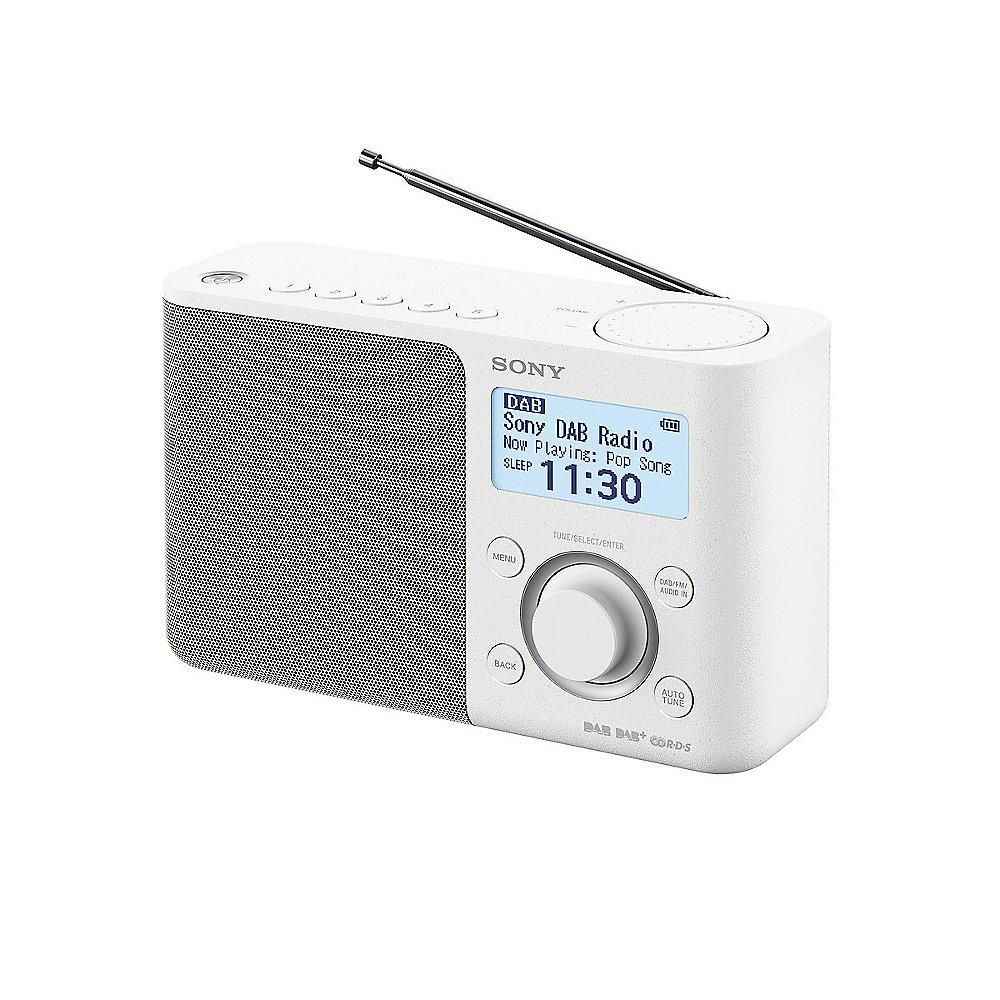 Sony XDR-S61DB Digitalradio UKW/DAB  Weiß