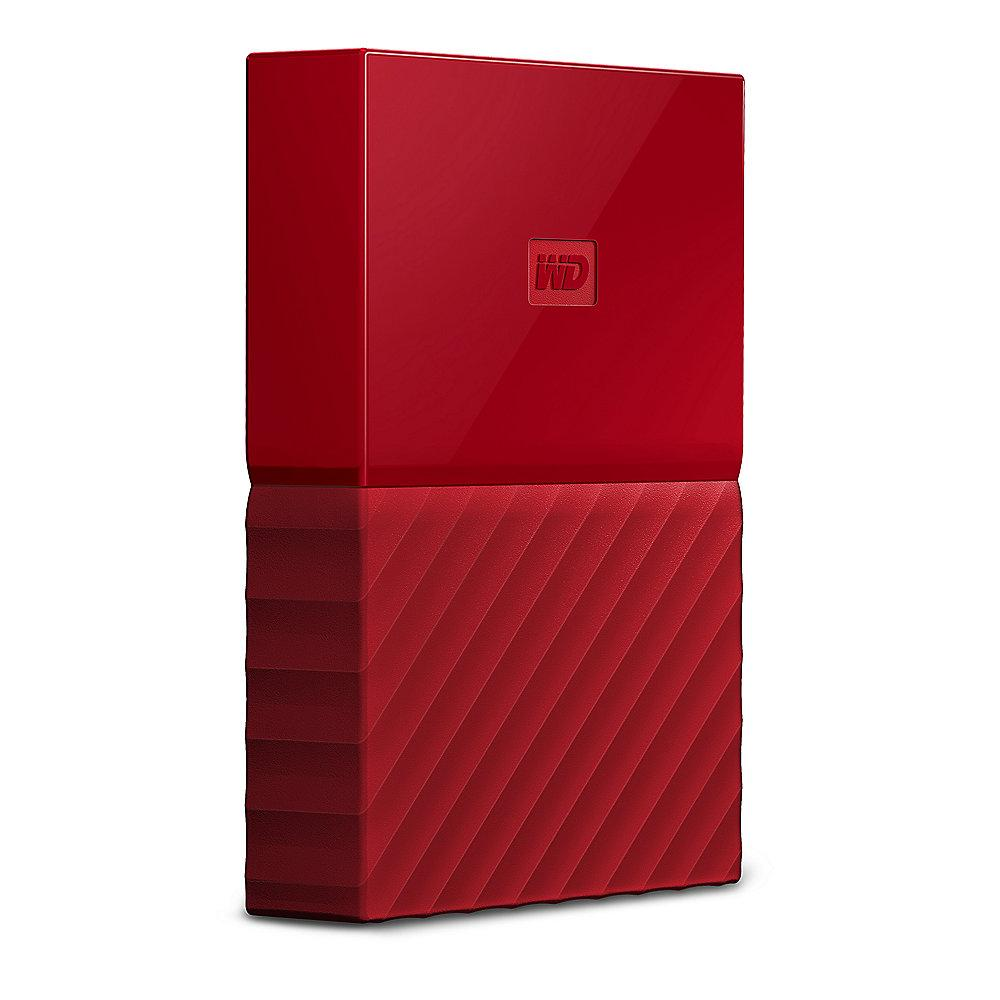 WD My Passport USB3.0 3TB 2.5zoll - Rot NEW