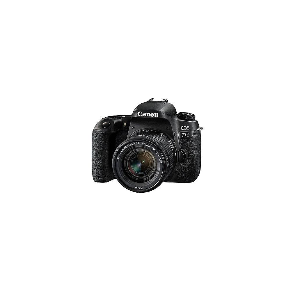 Canon EOS 77D Doppel-Zoom-Kit 18-55mm IS STM   75-300mm F/4.0-5.6 III USM