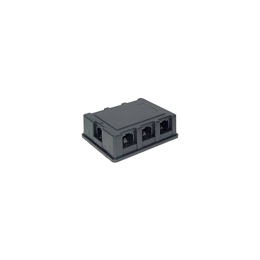 Good Connections ISDN Verteilerbox 3m 1x RJ45 zu 6x RJ45 Adapter schwarz