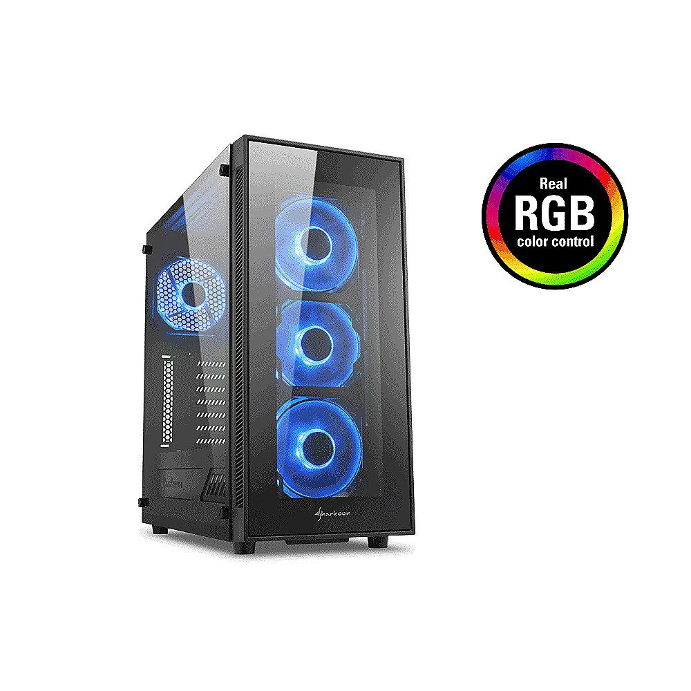 Sharkoon TG5 Midi-Tower ATX Gaming Gehäuse RGB LED, Seitenfenster