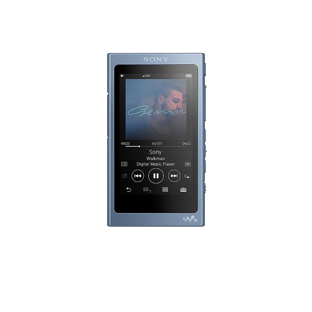 SONY Walkman NW-A45 16GB MP3 Player Bluetooth Touch Hi-Res NFC blau