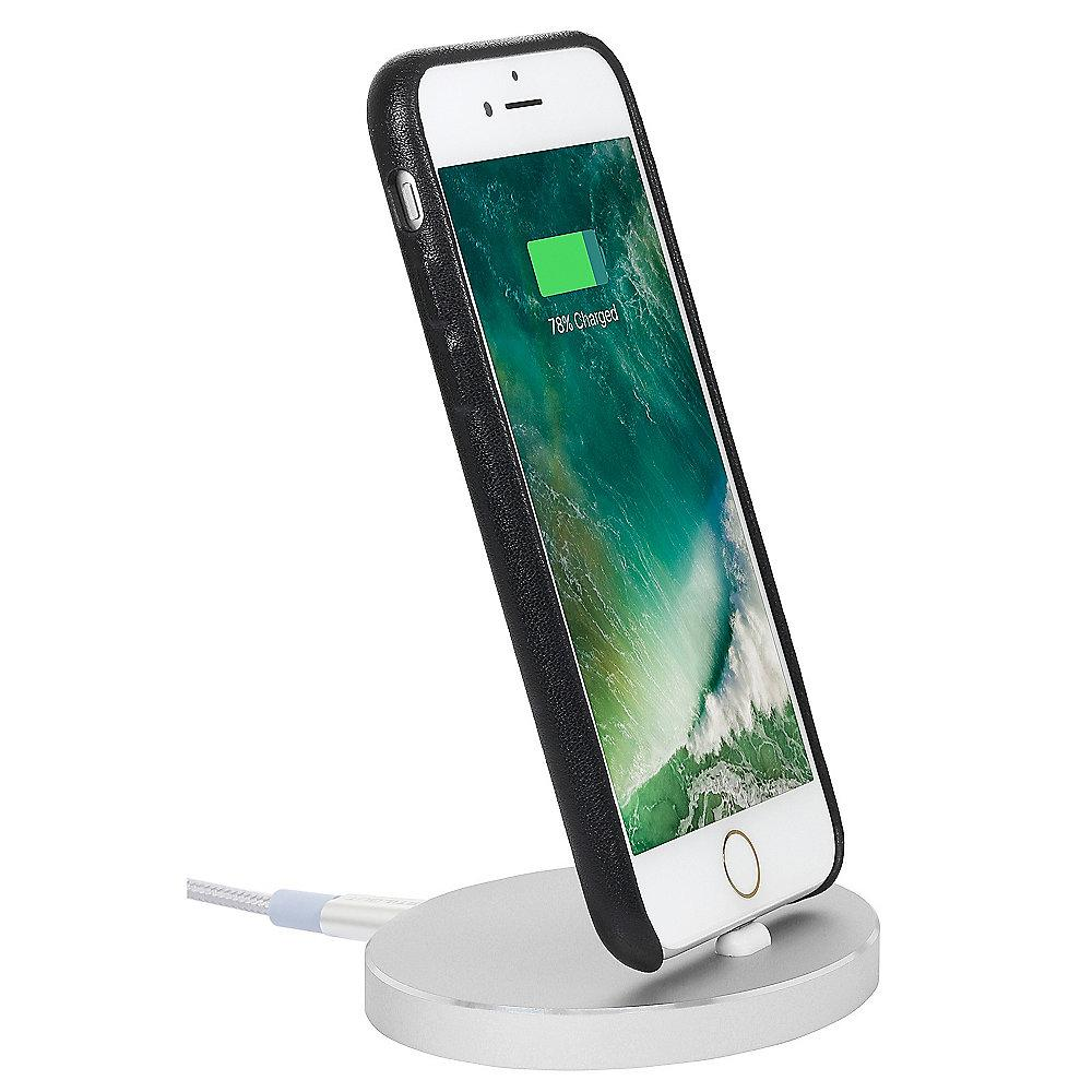 StilGut Airdock Oval iPhone Dockingstation, silber