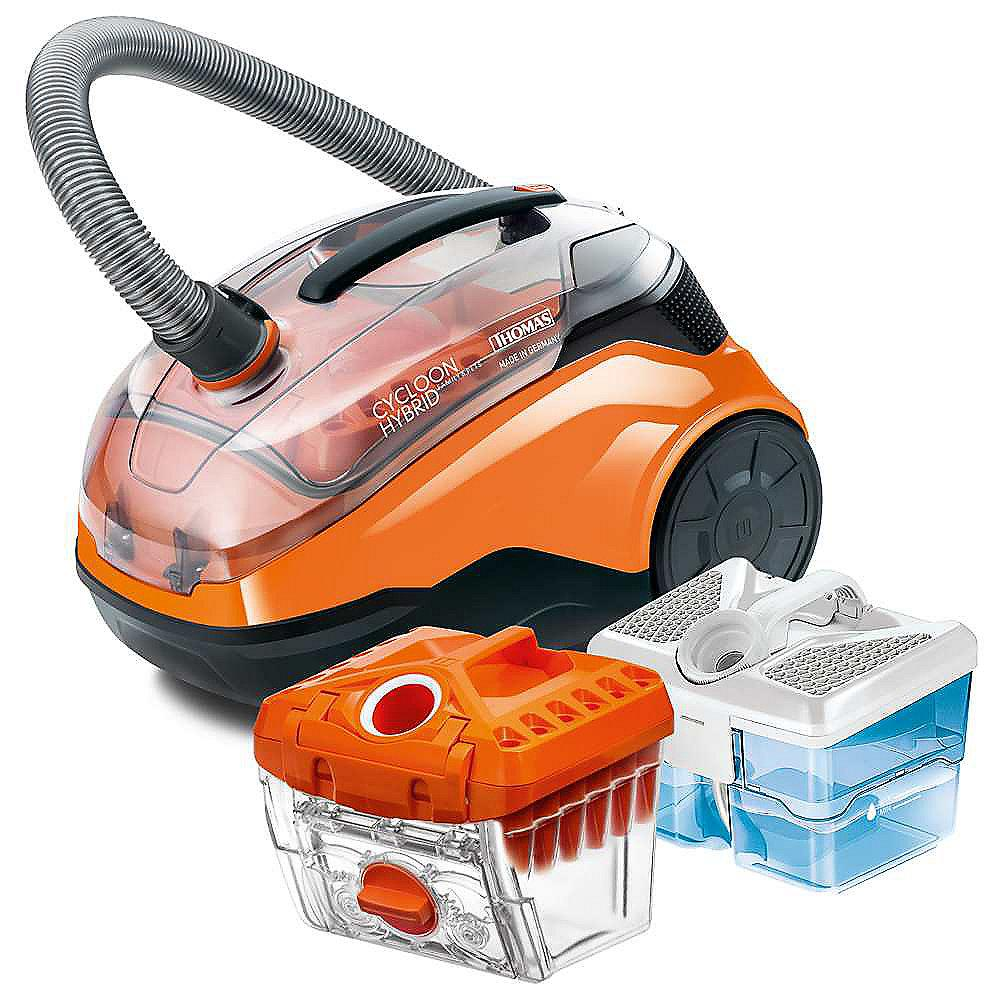 Thomas Cyclon Hybrid Family & Pet Staubsauger ohne Beutel schwarz/orange