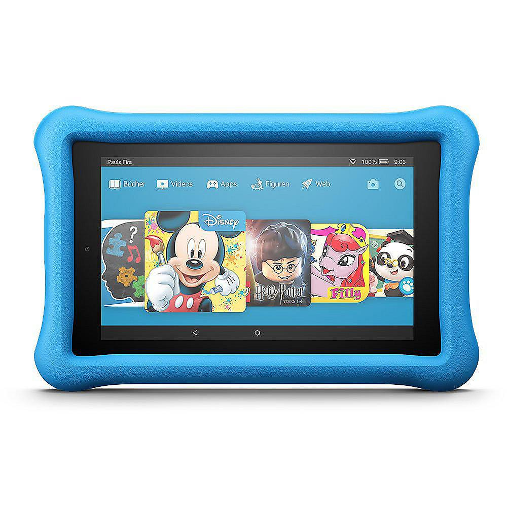 Amazon Fire 7 Kids Edition Tablet WiFi 16 GB Kid-Proof Case blau