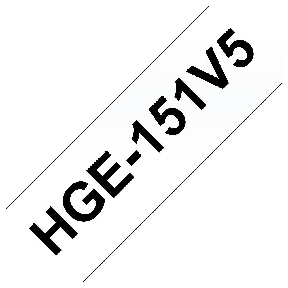 Brother HGe-151V5 Schriftband-Multipack 5x High-Grade 24mm x 8m