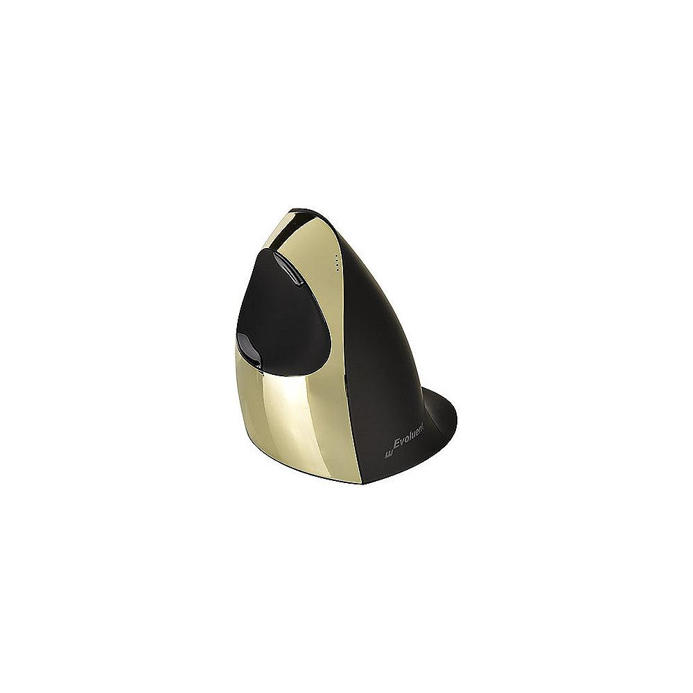 Evoluent VMCRWG VerticalMouse C Right Gold Kabellos Ergonomie Maus