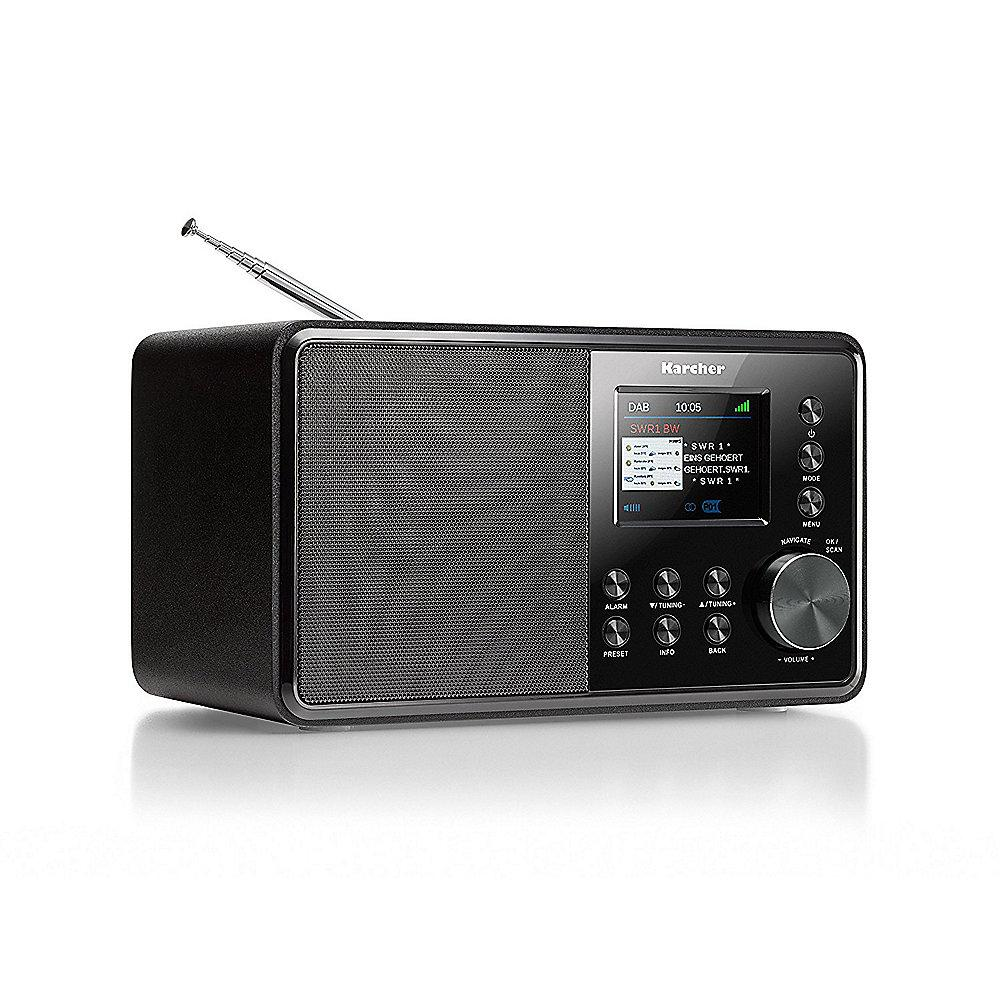 Karcher DAB 3000 Digitalradio DAB /UKW-RDS, AUX-IN, Wecker schwarz