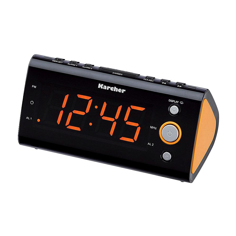 Karcher UR 1040 UKW Radiowecker dimmbares Display Dual-Alarm orange