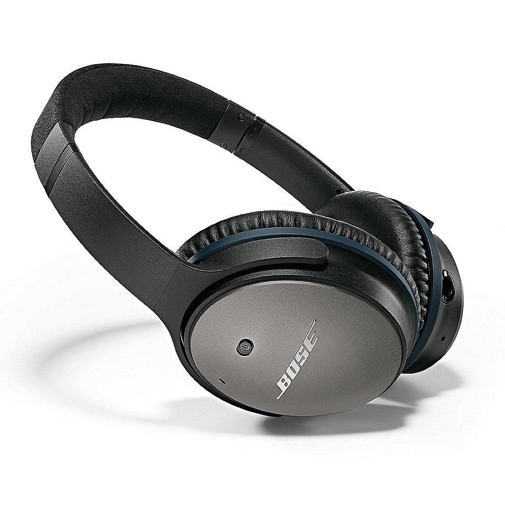 BOSE Quietcomfort 25 Over Ear Acoustic Noise Cancelling Kopfhörer Schwarz (IOS)