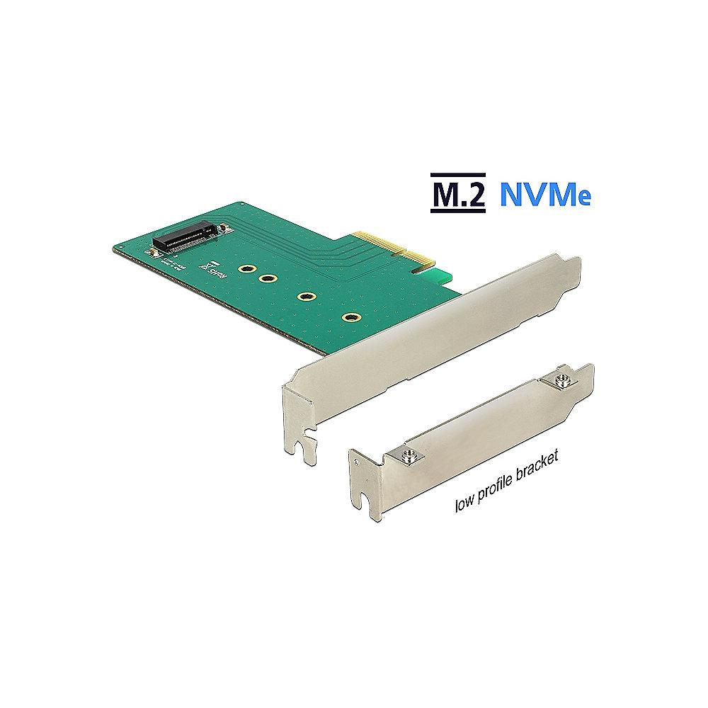 DeLOCK PCI Express x4 Karte auf 1 x intern NVMe M.2 Key M 110 mm